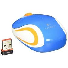 Logitech M187 Wireless Mini Optical Mouse Blue Brand New