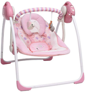 Soothing Portable Swing,Comfort Electric Baby Rocking Chair with Intelligent M