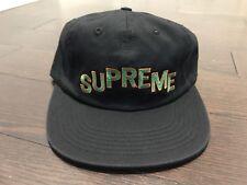 Supreme Stepped Arc 6-Panel Hat Cap FW17 Black c8eae984ae8f
