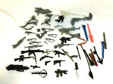 Vintage Lot of 58 Action Figure, G.I. Joe, Toy Soldier Guns, Helmuts, & Weapons