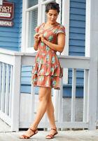 WOMENS MATILDA JANE Brilliant daydream Looks to Frill Dress SIZE L Large NWT