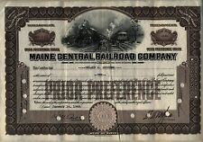 Maine Central Railroad Company Stock Certificate 1946