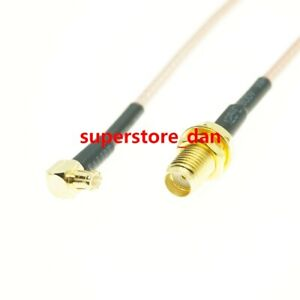 15/30/50cm RG316 MCX MALE RIGHT ANGLE to SMA FEMALE Bulkhead RF Pigtail Cable