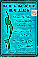 *MERMAID RULES* MADE IN HAWAII METAL SIGN 8X12 TIKI BAR LUAU INSPIRATION BEACH