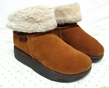Skechers Sketchers tone ups women's size 7 ankle boots brown suede chestnut