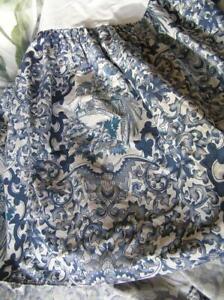 Vintage Ralph Lauren Blue Bird Tamarind Bed Skirt Dust Ruffle Western KIng MINT!