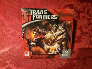 """Vintage Milton Bradley Trans Formers Puzzle 100 pc 10"""" x 13"""" Transformers 55538"""
