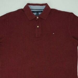Tommy Hilfiger Polo Shirt Size L PIT TO PIT Is 23 Inches Long Sleeve