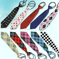 10 Styles Tie For School Boys Girls Kids Elastic Necktie Wedding 10 Colors Tie