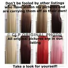 UK SELLER Straight Synthetic Clip in Hair Extensions 24? Half Head Thick Long