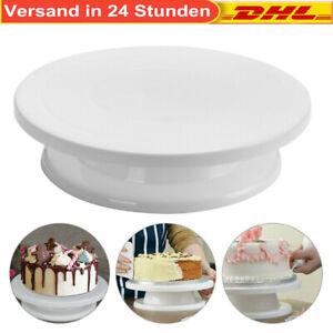 360 Drehbar`Tortenständer Tortenplatte Kuchenplatte-Fondant Kuchenteller Ø27,5cm