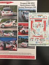 DECALS 1/43 PEUGEOT 206 WRC GEORGES GUEBEY RALLYE DU ROUERGUE 2009 RALLY