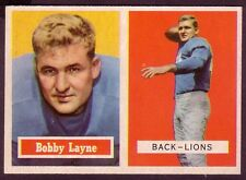 1957 TOPPS BOBBY LAYNE CARD NO:32 PO24 NEAR MINT CONDITION