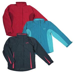 Damen Funktionsjacke 3 in 1 Allwetter Outdoor Fleece Jacke wasser und winddicht