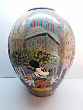 "Disney Amadio Smith Raku Mickey Mouse Vase ""NEW YORK CITYSCAPE"" RARE LE#20/100 c"