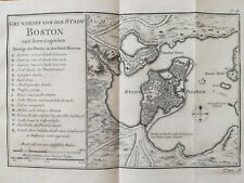 Bellin Original Engraving Plan City of Boston - 1750x