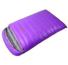 Double Envelope Sleeping Bag 1800g White Duck Down Waterproof Camping -25°C