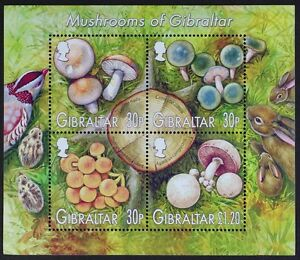 Z776A GIBRALTAR 2003 Mushrooms Souvenir Sheet S/S Mint NH