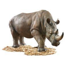 African Safari Rhino Garden Sculpture Statue for Home or Garden
