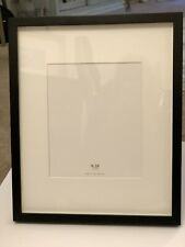 New Pottery Barn Black Wood Gallery Frame 8x10 Ivory Off White Mat