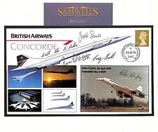 MS1667 2005 GB *UNIQUE* CONCORDE Cover LAST FLIGHT Signed 5 Pilots No.1/1 RARE+