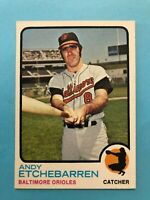 1973 Topps Andy Etchebarren Card #618 Baltimore Orioles