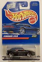 1998 Hotwheels Ferrari 348 Black! 443 Variant! Very Rare! Mint! MOC!