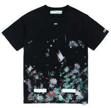 Unisex Off White Fireworks Starry Sky Hip-hop Sports Lover Oversize T-Shirt S-XL
