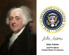 President John Adams Founding Fathers Presidential Seal Autograph 8 x 10 Photo b