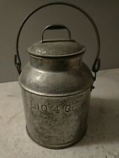4 Qt. Galvanized Steel Milk Pail with Lid and Handle