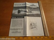 1967 Aurora Russian Guided Missile Submarine 726 Model Kit Instructions ONLY!