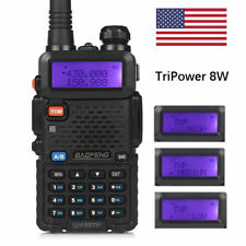 Baofeng UV-5RTP V/UHF Dual Band 136-174/400-520MHz Tri-Power 8W HP Two-Way Radio