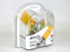 Nokya 2500K 55w Hyper Yellow H7 Halogen Fog Light Bulbs