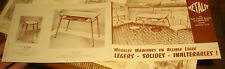 Dépliant Meuble Table Chaise Metalit Courbevoie Formika