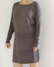 Women's Round Neck Wool jumper UK size:12/14 Brown