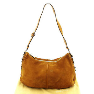 Sergio Rossi Shoulder bag Brown Silver Woman Authentic Used T3035