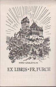 ex-libris Frantisek  Furch (Czechoslovakia)