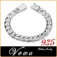New Mens 925 Sterling Silver 10mm Super Chunky Bracelet Charm Link Chain UK BS18