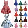 Womens Vintage Sleeveless Swing Mini Dress Hepburn Rockabilly Cocktail Sundress