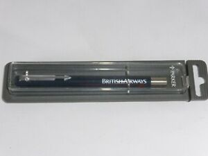 Parker British Airways Dark Blue Vintage 1990s Ball Point Pen In Case New Unused