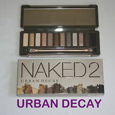 Genuine Urban Decay Nudi 2 Eyeshadow Palette & Pennello Nuovo