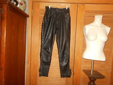 Womans Harley Davidson Black Lined, Leather Pants Size 38/10 #1455