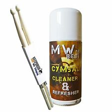 MW Best Cymbal Cleaner Becken-Reiniger + KEEPDRUM Drumsticks