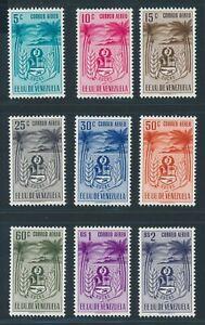 "VENEZUELA 1952, Mi. 811-19 **/MNH, ""Sucre, airmail"", very fresh and fine!"