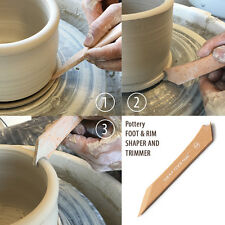 Xiem pottery FOOT & RIM SHAPER with TRIMMER: Size M - Ceramic and Clay Tools