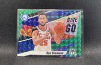 Ben Simmons Give and Go Green Prizm Mosaic 2020 Panini #2 76ers