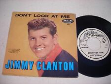 PROMO w PICTURE SLEEVE Jimmy Clanton Don't Look at Me 1961 45rpm VG++