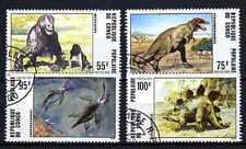Animaux Préhistoriques Congo (5) série complète 4 timbres oblitérés