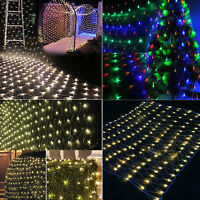 3M*2M 6M*4M LED Net Mesh Fairy String Curtain Party Wedding Xmas Decor Lights
