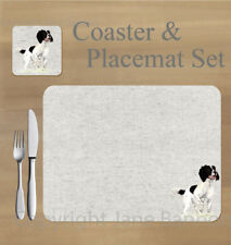 Springer spaniel,   placemat and coaster set    by Jane Bannon